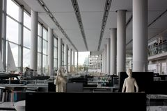 伦敦,英国- 2017年9月:养育建筑师` s演播室开放对日间公众 库存图片