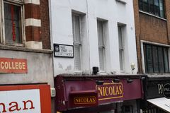 伦敦,英国- 2017年10月17日, :舰队街的路牌在伦敦市 免版税库存照片