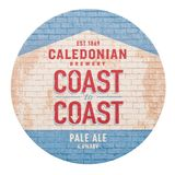 伦敦,英国- 2018年2月04日:在白色隔绝的古苏格兰啤酒厂全国范围麦酒原始的beermat沿海航船 库存照片