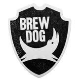 伦敦,英国- 2018年2月04日:在白色隔绝的Brewdog工艺啤酒原始的beermat沿海航船 库存照片