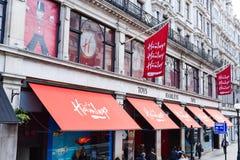 伦敦,英国- 2016年4月10日:著名Hamley ` s玩具店 免版税图库摄影