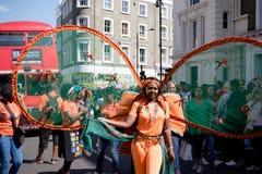 伦敦,英国- 2017年8月27日 notting狂欢节的小山 免版税库存照片
