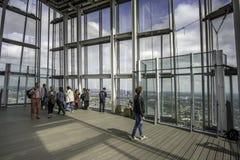 伦敦,英国5月,第10, 15碎片观点最高的buildi 免版税图库摄影