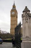 伦敦,英国- 2014 4月05日,大本钟,议会议院  免版税库存照片