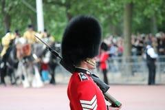 伦敦,英国7月06日,皇家卫兵的战士, 7月06日 2015年在伦敦 免版税图库摄影