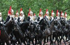 伦敦,英国7月06日,皇家卫兵的战士, 7月06日 2015年在伦敦 免版税库存照片