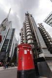 伦敦,英国- 2016年6月18日:企业大厦惊人的看法在伦敦市 免版税库存照片