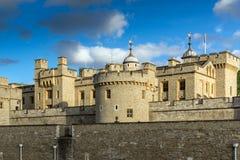 伦敦,英国- 2016年6月15日:历史的伦敦塔,英国 免版税库存图片