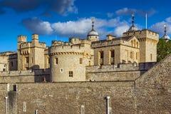 伦敦,英国- 2016年6月15日:历史的伦敦塔,英国 库存照片