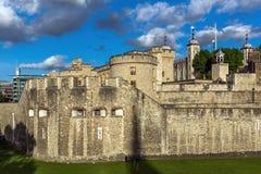 伦敦,英国- 2016年6月15日:历史的伦敦塔,英国 库存图片