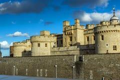伦敦,英国- 2016年6月15日:历史的伦敦塔,英国 免版税库存照片