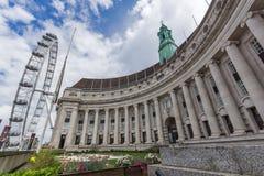 伦敦,英国- 2016年6月15日:国家大厅和伦敦注视,大英国 库存照片