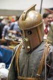 伦敦,英国- 10月26日:在可笑的Steampunk火箭专家成套装备 图库摄影