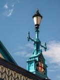 伦敦,英国- 6月14日:在塔桥梁的装饰路灯柱在Lo 图库摄影