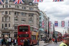 伦敦,英国- 2016年6月16日:在摄政的街道,伦敦市,英国的云彩 免版税库存照片