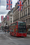 伦敦,英国- 2016年6月16日:在摄政的街道,伦敦市,英国的云彩 免版税库存图片