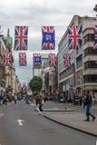 伦敦,英国- 2016年6月16日:在摄政的街道,伦敦市,英国的云彩 图库摄影