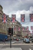 伦敦,英国- 2016年6月16日:在牛津街,伦敦,英国,大英国的云彩 免版税图库摄影