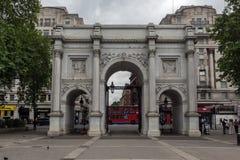 伦敦,英国- 2016年6月18日:大理石曲拱,伦敦惊人的看法  免版税库存图片