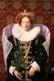 伦敦,英国- 2017年3月20日:女王伊丽莎白一世在杜莎夫人蜡象馆伦敦的蜡象 免版税库存图片