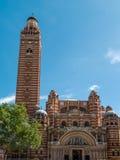 伦敦,英国- 6月14日:威斯敏斯特大教堂看法在伦敦 免版税库存图片