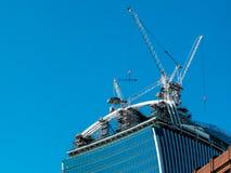 伦敦,英国- 6月14日:新buiding建设中在Cit 库存照片