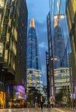 伦敦,英国- 2016年10月4日:现代建筑学在伦敦 免版税库存图片