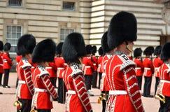 伦敦,英国- 2014年6月12日:英国皇家卫兵执行查家 免版税图库摄影