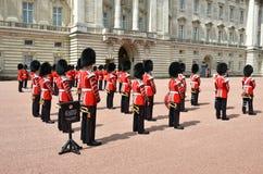 伦敦,英国- 2014年6月12日:英国皇家卫兵执行查家 免版税库存照片