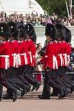 伦敦,英国- 2015年6月01日:英国皇家卫兵执行Th 库存照片