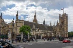 伦敦,英国- 2016年6月15日:议会,威斯敏斯特宫殿,伦敦,英国议院  库存照片
