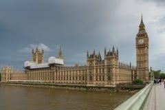 伦敦,英国- 2016年6月16日:议会,威斯敏斯特宫殿,伦敦,英国议院  免版税库存照片