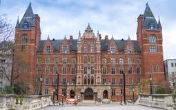 伦敦,英国- 2016年12月12日:音乐皇家音乐学院  库存图片
