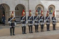 伦敦,英国- 2016年6月16日:骑马卫兵游行,英国,大英国 免版税库存图片