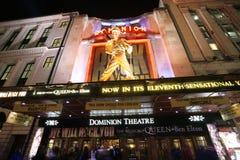 伦敦剧院,统治剧院 库存图片