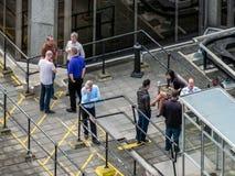 伦敦,英国- 6月14日:从威斯敏斯特大教堂的一个看法在Londo 免版税库存照片