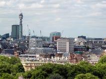 伦敦,英国- 6月14日:从威斯敏斯特大教堂的一个看法在Londo 库存图片