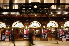 伦敦剧院,爱德华Theatre王子 免版税库存照片