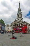 伦敦,英国- 2016年6月16日:St马丁在这领域教会,伦敦,英国,大英国 库存图片