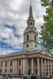 伦敦,英国- 2016年6月16日:St马丁在这领域教会,伦敦,英国,大英国 免版税库存图片