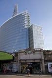 伦敦,英国- 2014年3月29日玻璃碎片,被打开对2月2013的公众309 m,高楼在欧洲 免版税库存图片