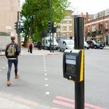 伦敦,英国- 2016年6月21日 美好的街道视图  图库摄影