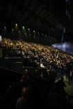 伦敦,英国- 12月02 :客人出席2014年维多利亚的秘密时装表演前排&前鸡尾酒招待会 库存照片