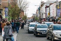 伦敦,英国-第2 2017年4月:坎登锁村庄,著名alt 免版税图库摄影