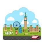 伦敦,英国 都市的背景 免版税图库摄影