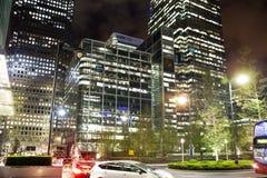 伦敦,金丝雀码头英国- 2014年4月13日-金丝雀码头企业唱腔现代玻璃建筑学, 免版税库存照片