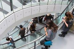 伦敦,香港大会堂内部 楼梯 免版税图库摄影