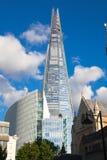 伦敦,玻璃碎片  免版税图库摄影