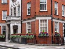 伦敦, Mayfair连栋房屋 图库摄影