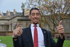 伦敦:世界的最高的人和最短的人在吉尼斯世界纪录见面 库存图片